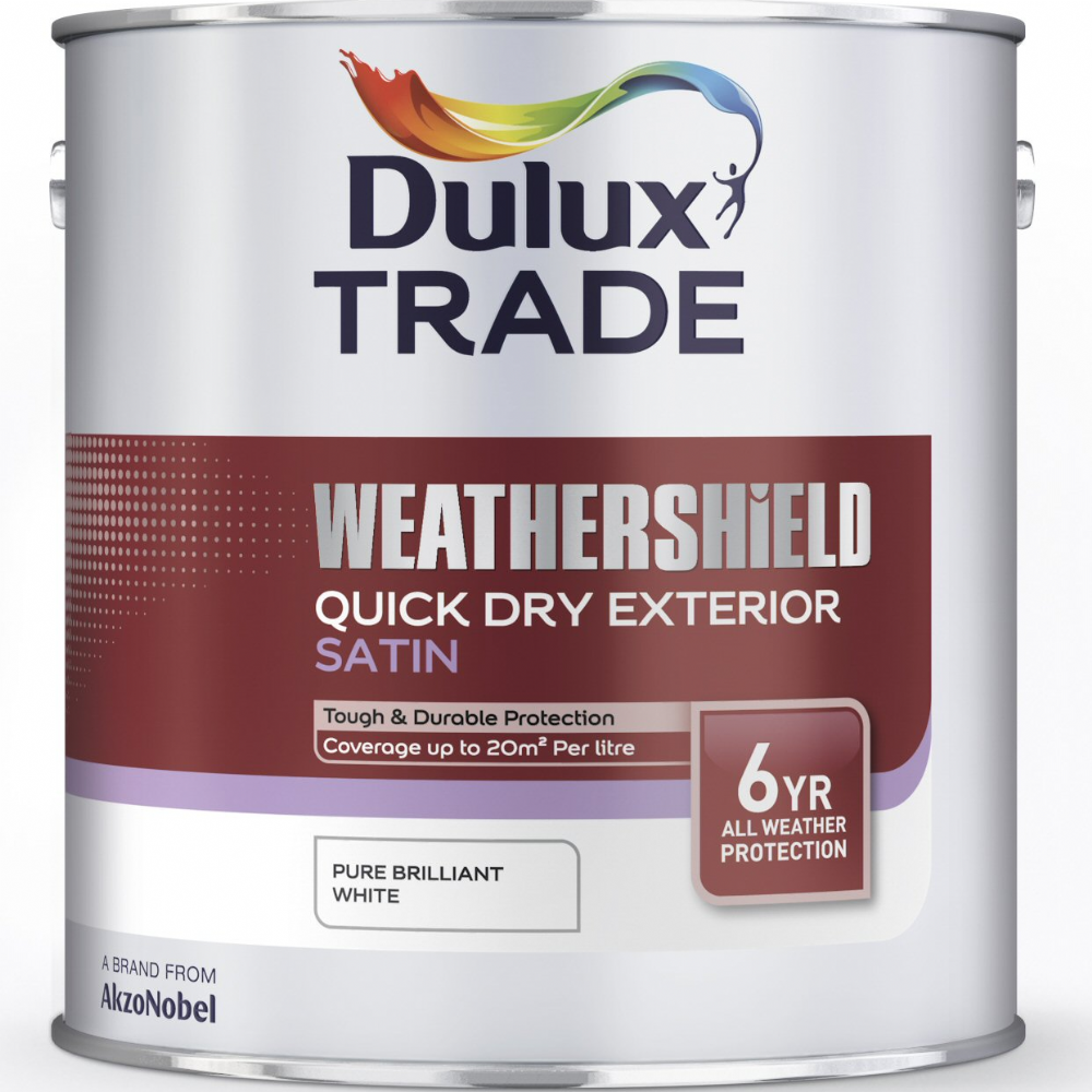 Dulux Trade Weathershield Quick Dry Exterior Satin 2.5L clearance